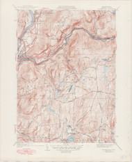 Millers Falls, MA 1941-1949 Original USGS Old Topo Map 7x7 Quad 31680 - MA-35