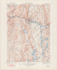 Orange, MA 1941-1949 Original USGS Old Topo Map 7x7 Quad 31680 - MA-36