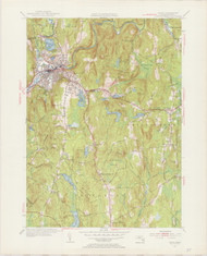 Athol, MA 1954-1956 Original USGS Old Topo Map 7x7 Quad 31680 - MA-37
