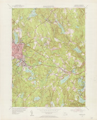 Gardner, MA 1954-1955 Original USGS Old Topo Map 7x7 Quad 31680 - MA-39