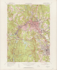 Fitchburg, MA 1954-1956 Original USGS Old Topo Map 7x7 Quad 31680 - MA-40