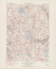 Shirley, MA 1939-1951 Original USGS Old Topo Map 7x7 Quad 31680 - MA-41