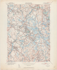 Wilmington, MA 1950-1952 Original USGS Old Topo Map 7x7 Quad 31680 - MA-45