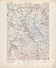 Wilmington, MA 1950-1952 Original USGS Old Topo Map 7x7 Quad 31680 - MA-45