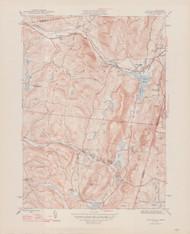Canaan, MA 1946-1947 Original USGS Old Topo Map 7x7 Quad 31680 - MA-49