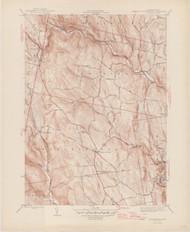 Worthington, MA 1944-1946 Original USGS Old Topo Map 7x7 Quad 31680 - MA-53