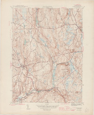 Barre (copy A), MA 1944-1946 Original USGS Old Topo Map 7x7 Quad 31680 - MA-60A