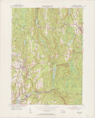 Barre (copy B), MA 1954-1955 Original USGS Old Topo Map 7x7 Quad 31680 - MA-60B