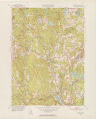 Sterling, MA 1950-1952 Original USGS Old Topo Map 7x7 Quad 31680 - MA-62