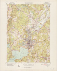Clinton, MA 1950-1952 Original USGS Old Topo Map 7x7 Quad 31680 - MA-63