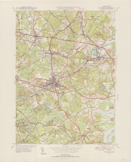 Maynard, MA 1950-1952 Original USGS Old Topo Map 7x7 Quad 31680 - MA-65