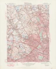 Lexington, MA 1946-1950 Original USGS Old Topo Map 7x7 Quad 31680 - MA-67