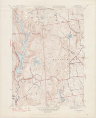 Westhampton, MA 1944-1947 Original USGS Old Topo Map 7x7 Quad 31680 - MA-76
