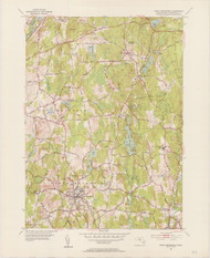 North Brookfield, MA 1952-1954 Original USGS Old Topo Map 7x7 Quad 31680 - MA-82