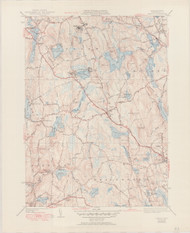 Paxton, MA 1951-1941 Original USGS Old Topo Map 7x7 Quad 31680 - MA-83