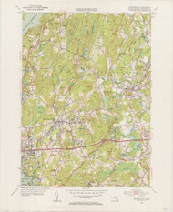 Shrewsbury, MA 1953-1954 Original USGS Old Topo Map 7x7 Quad 31680 - MA-85