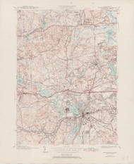 Framingham, MA 1943-1951 Original USGS Old Topo Map 7x7 Quad 31680 - MA-87