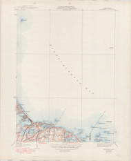 Nantasket, MA 1941-1949 Original USGS Old Topo Map 7x7 Quad 31680 - MA-92