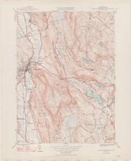 Great Barrington, MA 1946-1948 Original USGS Old Topo Map 7x7 Quad 31680 - MA-94