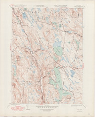 Otis, MA 1946-1948 Original USGS Old Topo Map 7x7 Quad 31680 - MA-96
