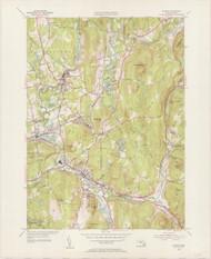 Palmer, MA 1954-1955 Original USGS Old Topo Map 7x7 Quad 31680 - MA-102
