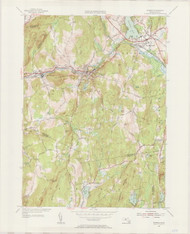 Waren, MA 1954-1955 Original USGS Old Topo Map 7x7 Quad 31680 - MA-103