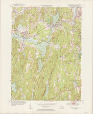 East Brookfield, MA 1954-1955 Original USGS Old Topo Map 7x7 Quad 31680 - MA-104