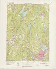 Milford, MA 1953-1955 Original USGS Old Topo Map 7x7 Quad 31680 - MA-108