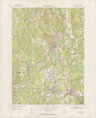 Holliston, MA 1953-1954 Original USGS Old Topo Map 7x7 Quad 31680 - MA-109