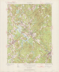 Medfield, MA 1945-1954 Original USGS Old Topo Map 7x7 Quad 31680 - MA-110