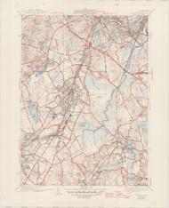 Norwood, MA 1941-1947 Original USGS Old Topo Map 7x7 Quad 31680 - MA-111