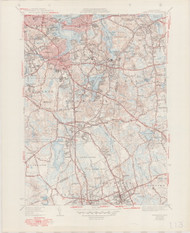 Weymouth, MA 1941-1949 Original USGS Old Topo Map 7x7 Quad 31680 - MA-113