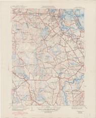 Cohasset, MA 1941-1948 Original USGS Old Topo Map 7x7 Quad 31680 - MA-114