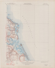 Scituate, MA 1940-1948 Original USGS Old Topo Map 7x7 Quad 31680 - MA-115
