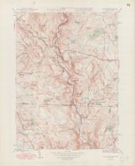 Tolland, MA 1946-1948 Original USGS Old Topo Map 7x7 Quad 31680 - MA-119
