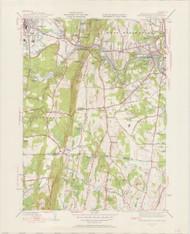 West Springfield, MA 1944-1958 Original USGS Old Topo Map 7x7 Quad 31680 - MA-122