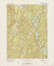 Wales, MA 1952-1954 Original USGS Old Topo Map 7x7 Quad 31680 - MA-126