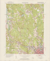Blackstone, MA 1953-1954 Original USGS Old Topo Map 7x7 Quad 31680 - MA-131