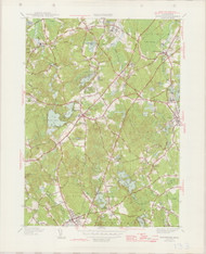Wrentham, MA 1945-1946 Original USGS Old Topo Map 7x7 Quad 31680 - MA-133