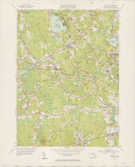 Norton, MA 1951-1953 Original USGS Old Topo Map 7x7 Quad 31680 - MA-142