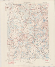 Plympton, MA 1941-1950 Original USGS Old Topo Map 7x7 Quad 31680 - MA-145