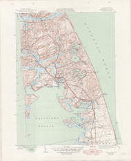 Wellfleet, MA 1941-1950 Original USGS Old Topo Map 7x7 Quad 31680 - MA-148