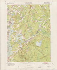 Assonet, MA 1951-1953 Original USGS Old Topo Map 7x7 Quad 31680 - MA-151