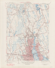 New Bedford, MA 1941-1949 Original USGS Old Topo Map 7x7 Quad 31680 - MA-159