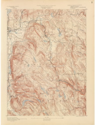 Becket, MA 1890 USGS Old Topo Map 15x15 Quad RSY