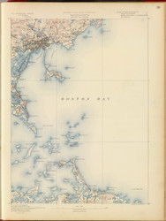 Boston Bay, MA 1890 USGS Old Topo Map 15x15 Quad RSY