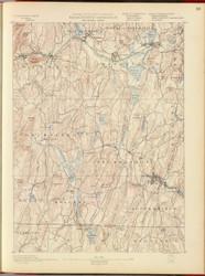 Brookfield, MA 1890 USGS Old Topo Map 15x15 Quad RSY