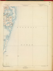 Chatham, MA 1890 USGS Old Topo Map 15x15 Quad RSY