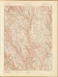 Chesterfield, MA 1890 USGS Old Topo Map 15x15 Quad RSY