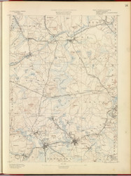 Framingham, MA 1890 USGS Old Topo Map 15x15 Quad RSY